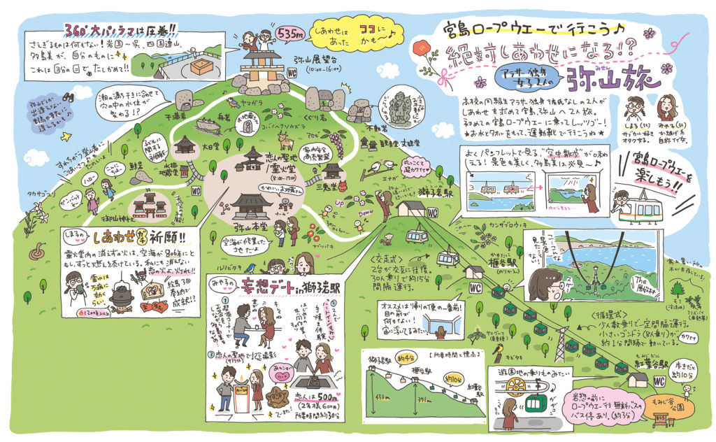 るるぶFREE 弥山旅イラストマップ